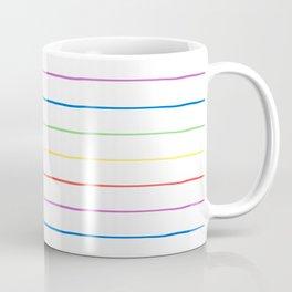 Rainbow Stripe Coffee Mug