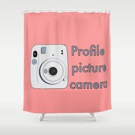 Profile Picture Camera Shower Curtain