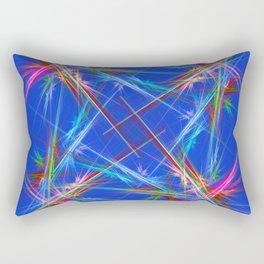 Fractal laser show Rectangular Pillow