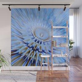 Blue 3D essence of a mandala Wall Mural