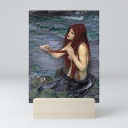 A Mermaid - Sketch - John William Waterhouse Mini Art Print