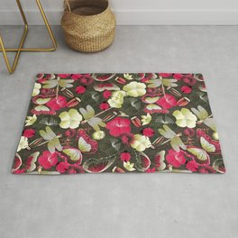 butterflies... dragonflies... and ladybugs! Rug