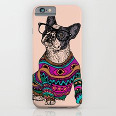 hipster frenchie iPhone 6 Slim Case