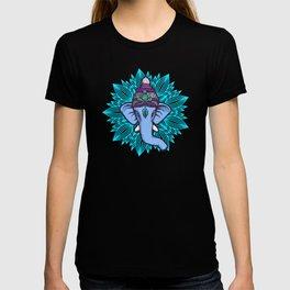 Wise Elephant Ganesha Mandala T-shirt