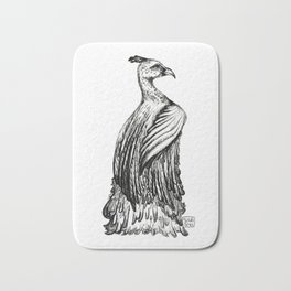 Elegant Feathers Bath Mat