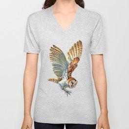 Barn Owl Landing  Unisex V-Neck