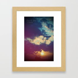 Stay with me for a while Framed Art Print