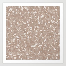 Warm Taupe Polka Dot Bubbles Art Print