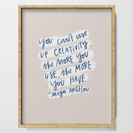 creativity quote Serving Tray