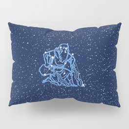 Aquarius Constellation and Zodiac Sign with Stars Pillow Sham