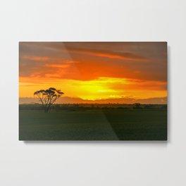 Sunset, Country Western Australia Metal Print