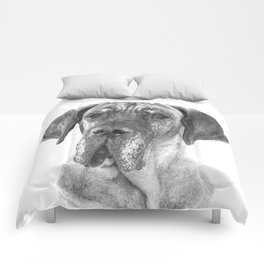 Black and White Great Dane Comforters