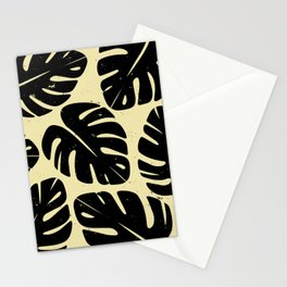 Monstera Leaf Print 2 Stationery Cards