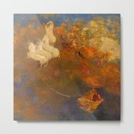 """Odilon Redon """"Apollo's Chariot"""" Metal Print"""