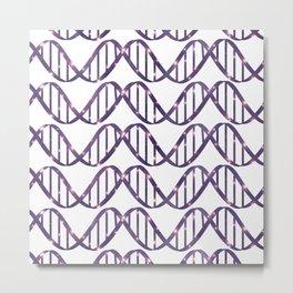 Universe in DNA Pattern Metal Print