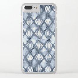 Braided Diamond Indigo Blue on Lunar Gray Clear iPhone Case