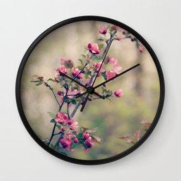 crabapple blossom dream Wall Clock