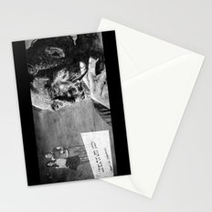 Charles Bukowski - love version - black Stationery Cards