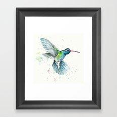 Hummingbird Flurry Framed Art Print