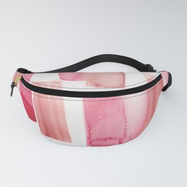 Blood Red  Watercolour Patterns   190130 Abstract Art Watercolour Fanny Pack