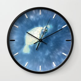 Psychedelic Space Turtle Wall Clock