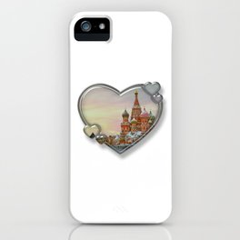 I Love Moscow iPhone Case