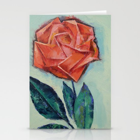 Origami Rose Stationery Cards