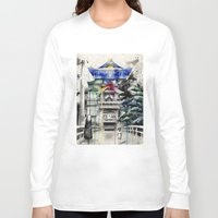 spirited away Long Sleeve T-shirts featuring Spirited Away by Sandra Ink