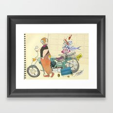 HE SELLS BEAUTIFUL FISHES Framed Art Print
