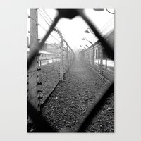 poland Canvas Prints featuring Auschwitz, Poland. by Grant Pearce