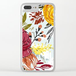 Beautiful Roses Clear iPhone Case