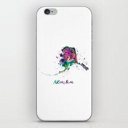 Alaska Map iPhone Skin