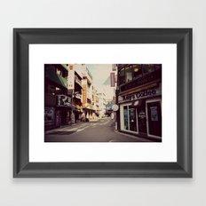 Korean Street Framed Art Print