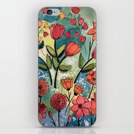 Floral Rhythm iPhone Skin