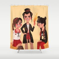 airbender Shower Curtains featuring Ozai's Angels by Anoosha Syed
