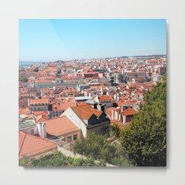 Lisbon, Portugal Analog 6x6 Kodak Ektar 100 (RR 162) Metal Print