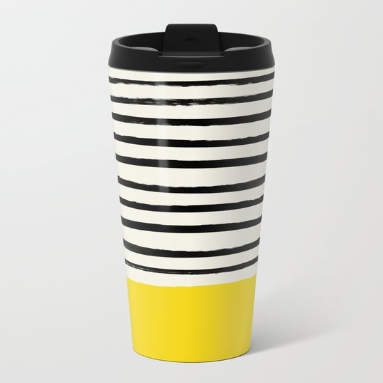 Sunshine x Stripes Metal Travel Mug