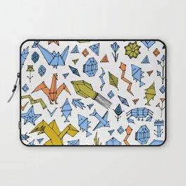 Marine animals and plants, Stylized origami Laptop Sleeve