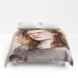 Harry watercolors III Comforters
