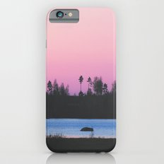 Pink skies over the lake iPhone 6s Slim Case