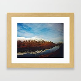 Beyond The Mountains Framed Art Print
