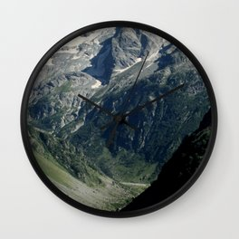Hiking in the french Alps Wall Clock