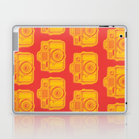 I Still Shoot Film Holga Logo - Reversed Yellow & Red Laptop & iPad Skin