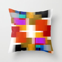 Simple Squares Pure Color Throw Pillow