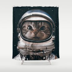 Space catet Shower Curtain
