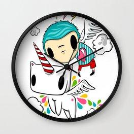 Polypop The Unicorn Wall Clock