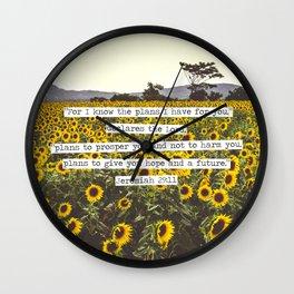 Jeremiah Sunflowers Wall Clock