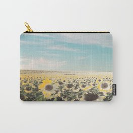 Muted Sunflowers Carry-All Pouch
