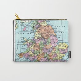 Vintage Map  of England and Wales Carry-All Pouch