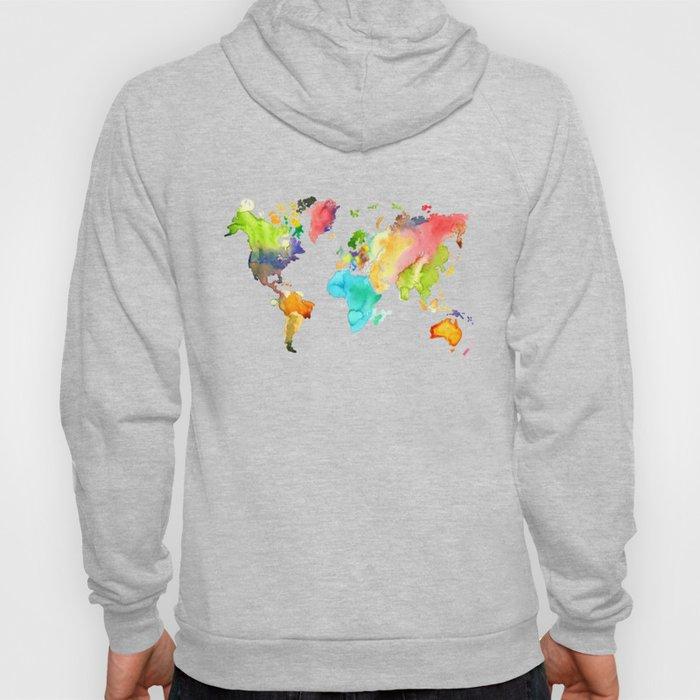 Watercolor World Hoody
